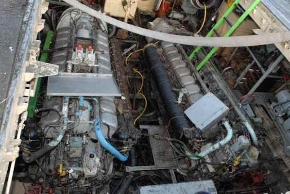 S130 Donor Boat - Forward Engine Room Revealed