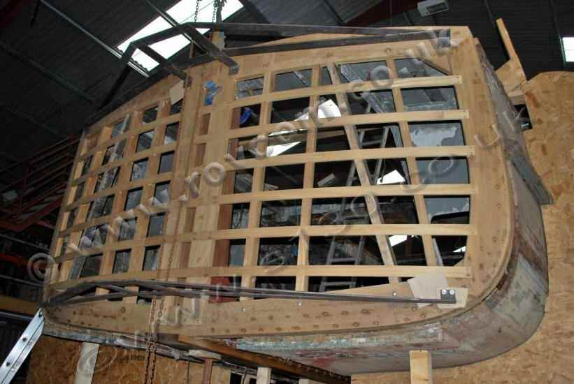 S130 - New transom framework in place