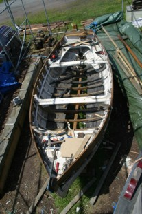 "102 year old Picarooner ""Lilly"" - Restoration including new hull planking, keel, floors and timbers"